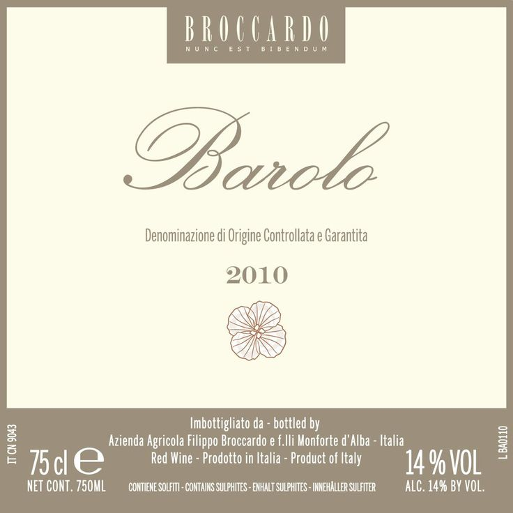 Broccardo Barolo 2012 - buy 6 bottles and get 2 bottles FREE!