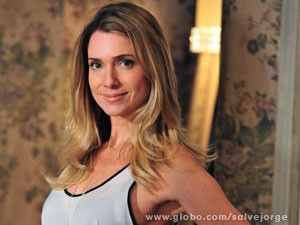 Letícia Spiller e suas madeixas (Foto: Salve Jorge/ TV Globo)