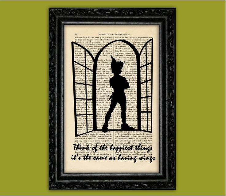 Peter Pan Nº6 Silhouette Happiest Things Art by ThePurpleHamster