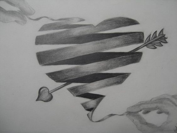 25 best ideas about cool heart drawings on pinterest for Really cool drawing ideas
