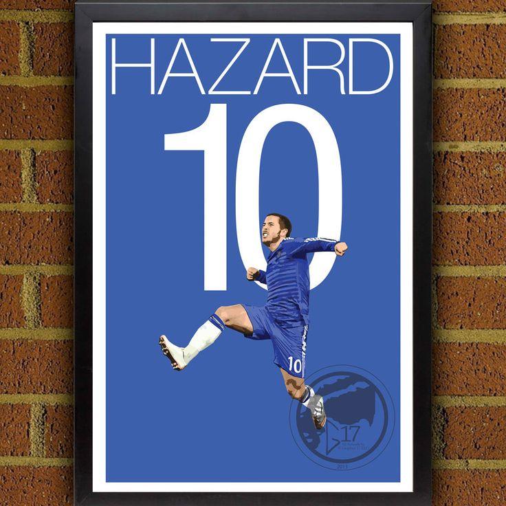 Hazard Goal Poster - Chelsea FC #soccer #bpl #premierleague #football