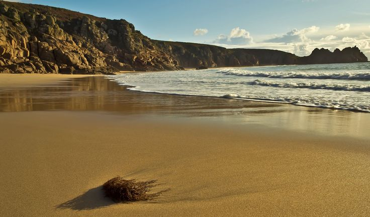 Morning on #Porthcurno beach, taken by Mark Tremain. June 2013