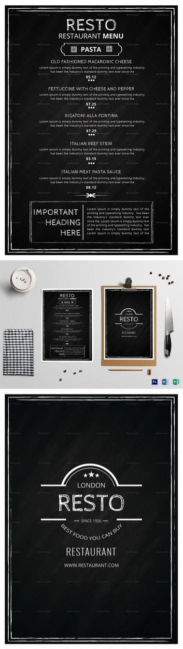 Modern Restaurant Menu Classic Template 35 best