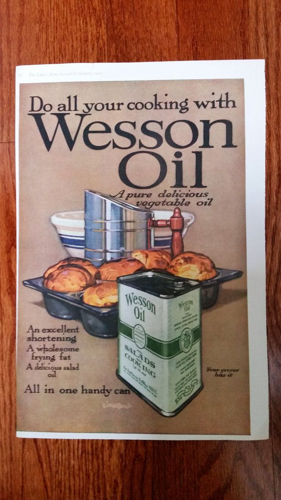 1919, January The Ladies Home Journal - Advertisement for Wesson Oil  by artist Linn Ball