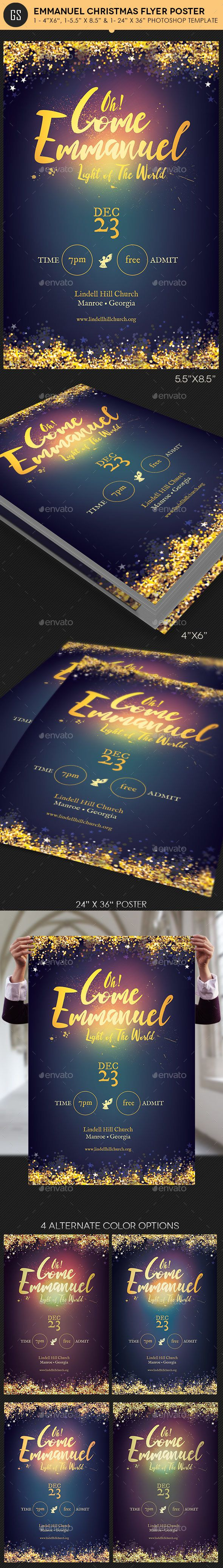 Emmanuel Christmas Cantata Flyer / Poster Template PSD