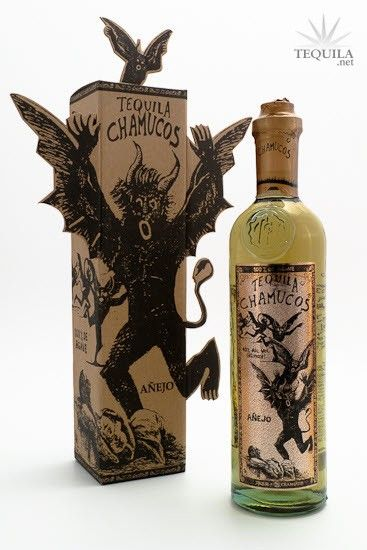 Chamucos Tequila Añejo Especial - Very Interesting Bottle & Package  @Kristina White...this made me think of you!!