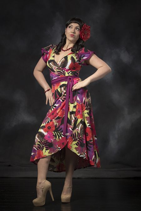Tokyo Rose Wrap Dress - Full Bloom / Magenta. Purchase: http://sprinkleemporium.bigcartel.com/product/tokyo-rose-wrap-dress