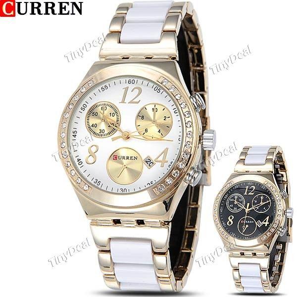 http://www.tinydeal.com/it/curren-stainless-steel-quartz-watch-w-false-sub-dial-f-women-p-110971.html  (CURREN) Stainless Steel Quartz Watch Analog Wristwatch Timepiece