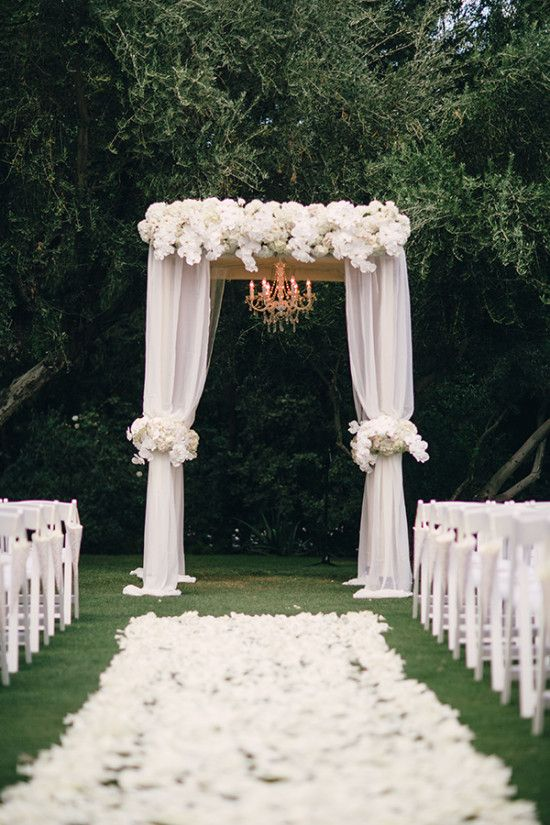 25 best ideas about white wedding arch on pinterest for Arch decoration for wedding