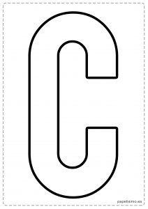 C letras para recortar y pegar guirnalda feliz cumpleaños