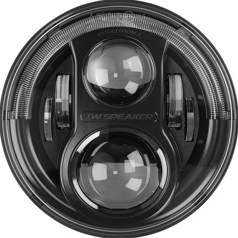 """A True Jeep Specific Headlight from JW Speaker! Equipped with a """"Half Halo"""" No Anti-Flicker Harness Required True Plug & Play Installation New ComfortLite High Beams Available in Black or Chrome Bezel Fits: 2007-2016 Jeep Wrangler JK and JK Unlimited"""