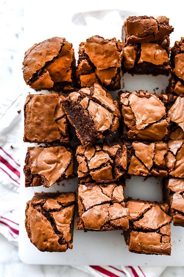 Classic Fat Witch Dark Chocolate Brownies Recipe | http://foodiecrush.com