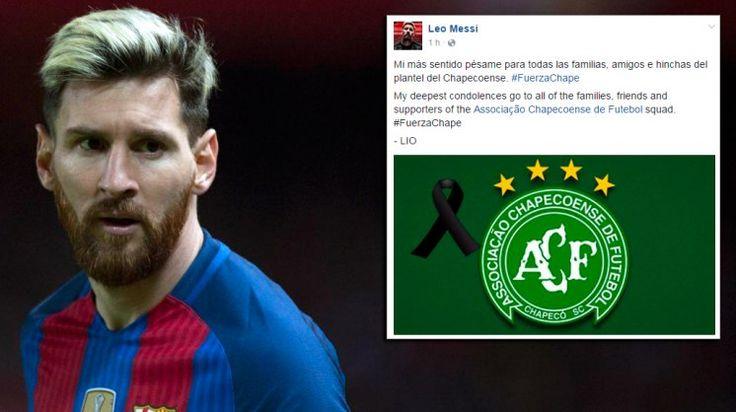 El pésame de Messi a Chapecoense por la tragedia áerea