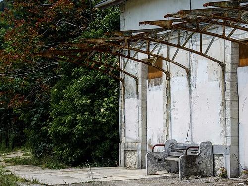 Abandoned railway station - Divonne-les-Bains, France