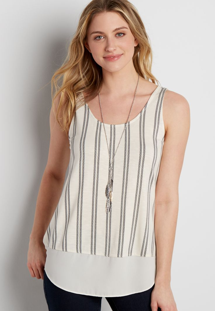 Maurices Striped Ring Tank aaoRWqOwD