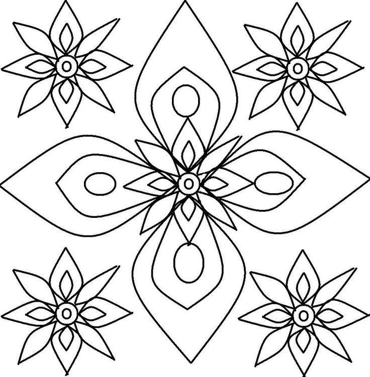 diwali craft rangoli design coloring printable page for kids 3