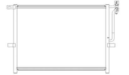 КОНДЕНСАТОР (РАДИАТОР) КОНДИЦИОНЕРА БМВ Е83 X3