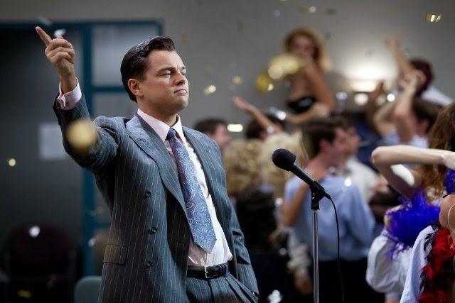 Leonardo DiCaprio as Jordan Belfort - Wolf of Wall Street