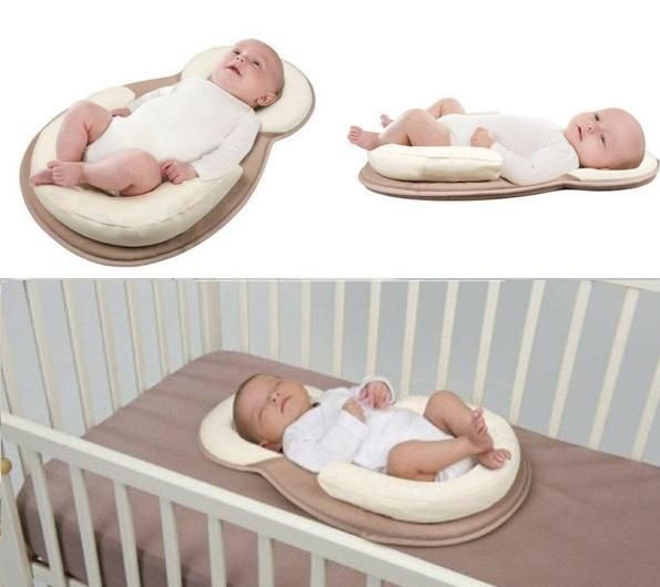 Baby Crib Pillow Infant Toddler Head Support Cushion Pad Cute Comfort Pillow