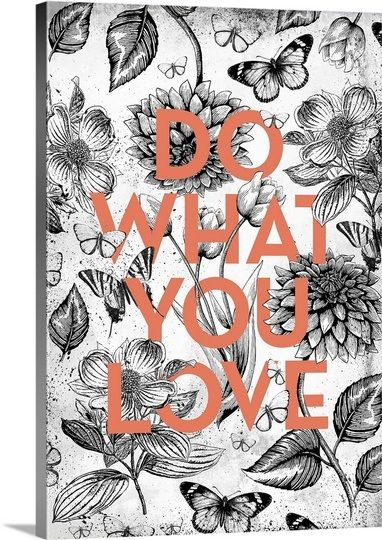 Vintage Illustration Inspiration - Do What You Love by Kate Lillyson, available from @greatbigcanvas