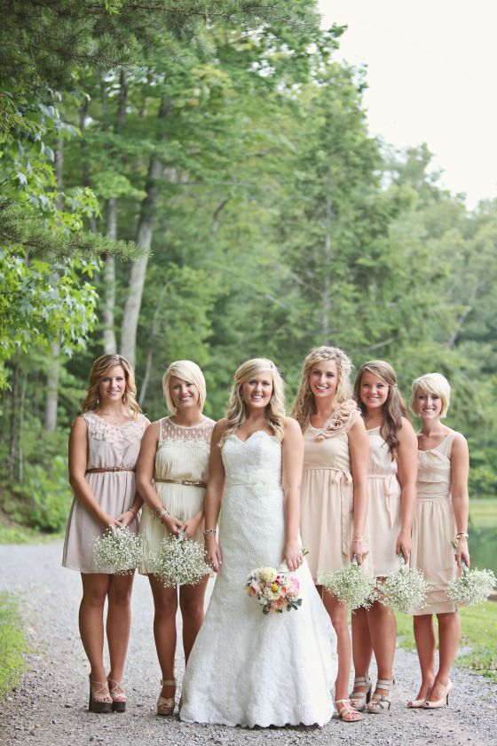 I've always had a vision of what I've wanted my wedding to be, but I could never find the perfect picture. And THIS is it (: down to the bridesmaids bouquets and wedges!!!!!