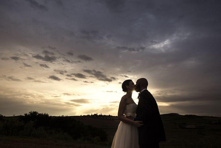kiss, kissing, sunset