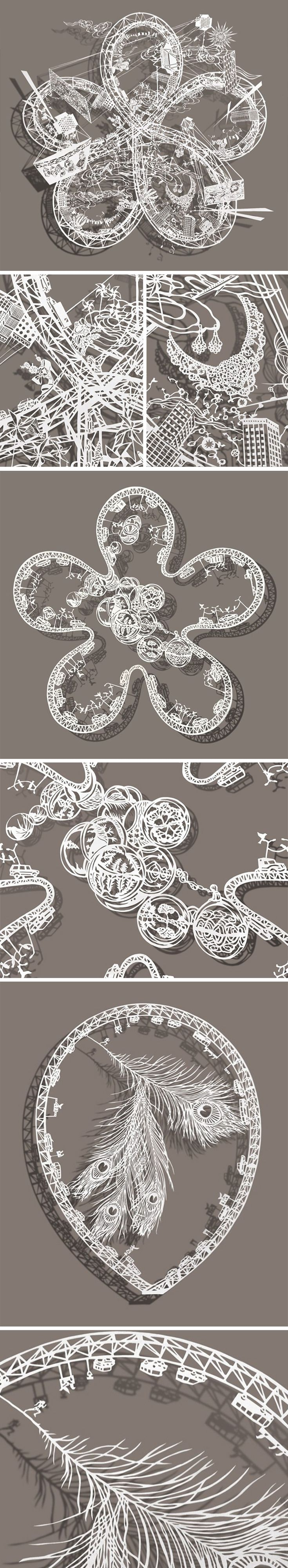 Best Paper Cut Images On Pinterest Artists Paintings And - Incredible intricately cut paper designs bovey lee