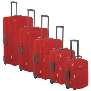 Dunlop 5 Piece Suitcase Set £60.00 #suitcasesets #familysuitcases  http://www.mrluggage.com/dunlop-5-piece-suitcase-set-red-708125
