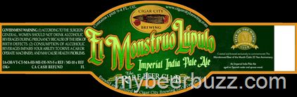 mybeerbuzz.com - Bringing Good Beers & Good People Together...: Cigar City / Rare Beer Club - El Monstruo Lupulo