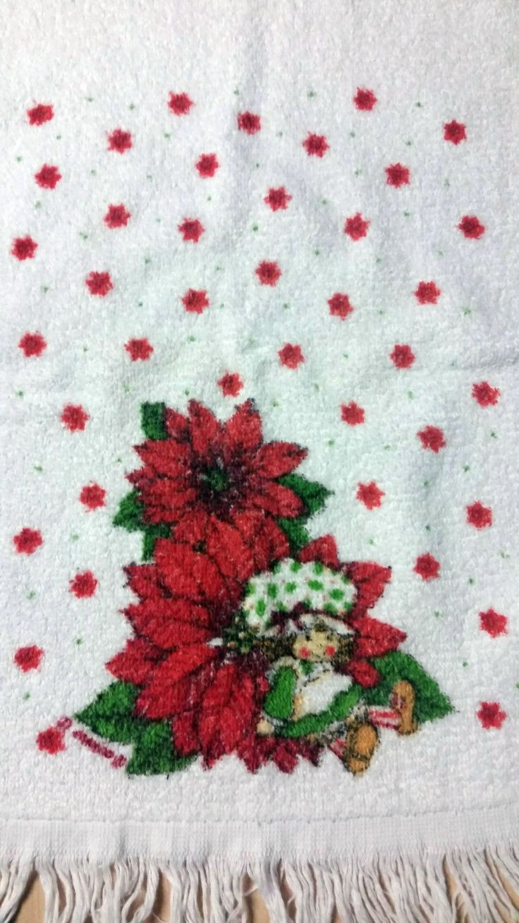 Knockoff? http://www.ebay.com/itm/Vintage-Strawberry-Shortcake-Christmas-Hand-Towel-Kitchen-Holiday-Cooking-Gift-/291946924897?hash=item43f9648b61:g:cOcAAOSwcUBYL3Z5