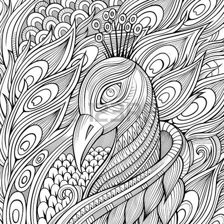 17 meilleures id es propos de paon dessin sur pinterest - Plume de paon dessin ...