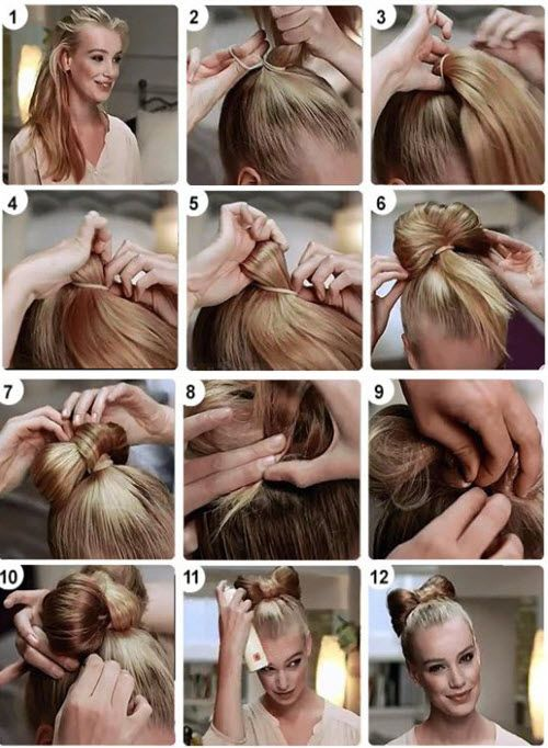 Как сделать прическу бантик | hairwiki.ru