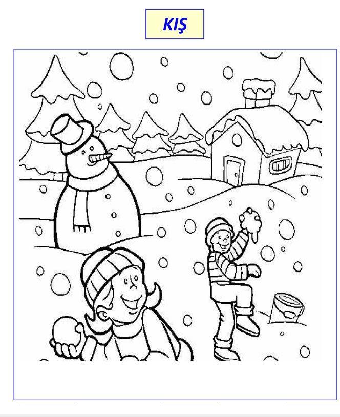 Kış Boyama Sayfaları