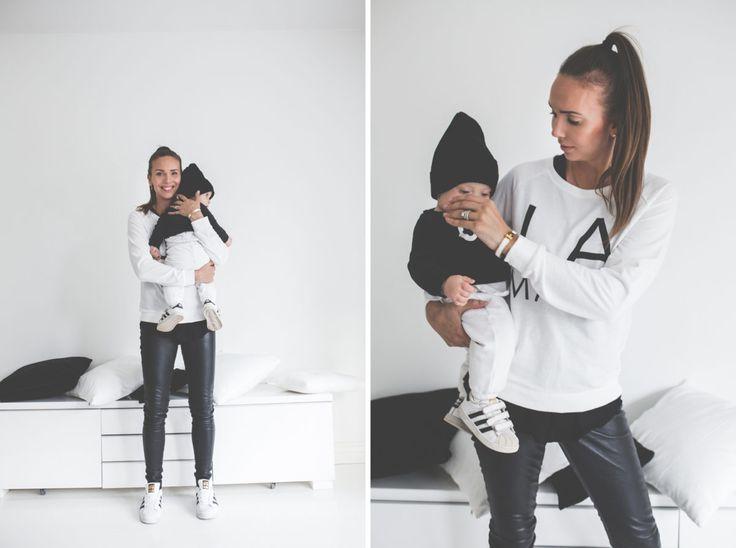 Mama's outfit college VILA / saatu blouse BANANA REPUBLIC leather pants SAMSOE & SAMSOE shoes ADIDAS superstars Mini's outfit top LINDEX pants BENETTON shoes ADIDAS beanie GUGGUU Muotiblogi, lifestyleblogi vai …