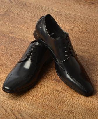 Black Formal #Gagliardi Derby Shoes