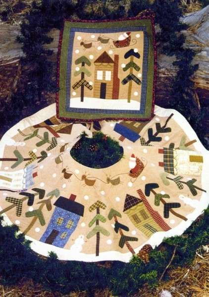 Quilt Pattern  Christmas Tree Skirt and Wall by PrimitiveQuilting, $8.00