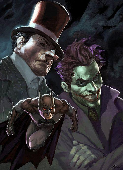 Batman, Penguin and Joker