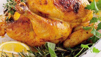 Slow-Roasted Organic Chicken With Parsley, Sage, Rosemary, and Thyme | Herbs pack quite a nutrient punch.