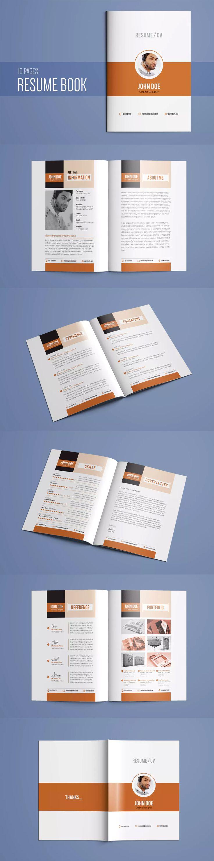 102 best Resume / CV Design Templates images on Pinterest
