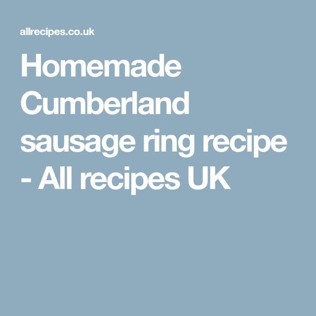 Homemade Cumberland sausage ring recipe - All recipes UK