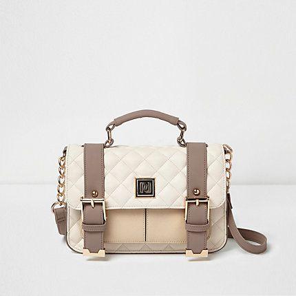 Cream quilted satchel bag £26.00