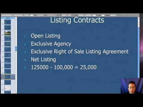 Real Estate Listing Contract Training