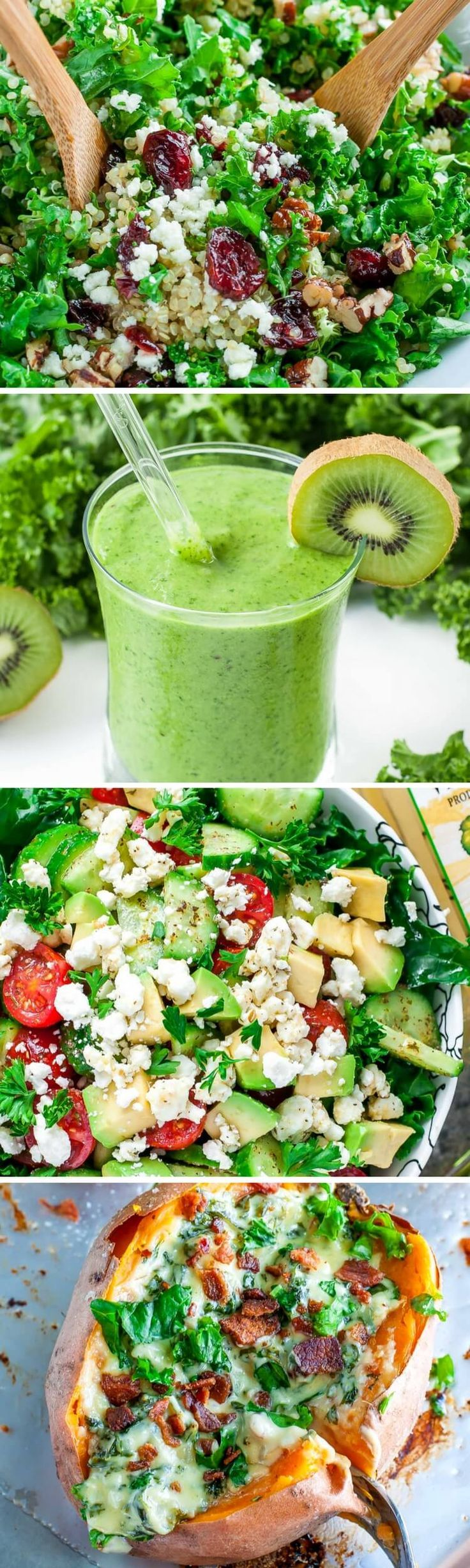 """This collection of tasty ways to eat more kale is long overdue! Let's take your outlook from """"Kale?"""" to """"KALE YEAH!!!"""" with delicious recipes that will change the way you think about this healthy veggie!"""