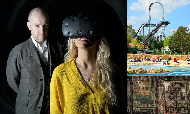 Derren Brown's latest trick may be his most controversial yet. The bizarre experiment in thought control is being conducted at a new £13 million Ghost Train ride at Thorpe Park in Surrey, one of the country's biggest theme parks.