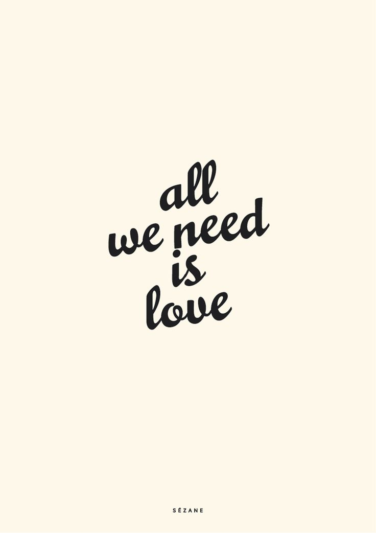 All we need is love  Typography Card #sezane #journalsezane