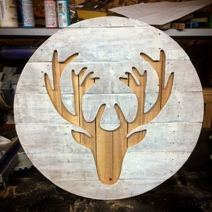 Check out this project on RYOBI Nation - I made this using reclaimed pallets. I used a band saw and scroll saw for the deer and a table saw for the backing pieces.