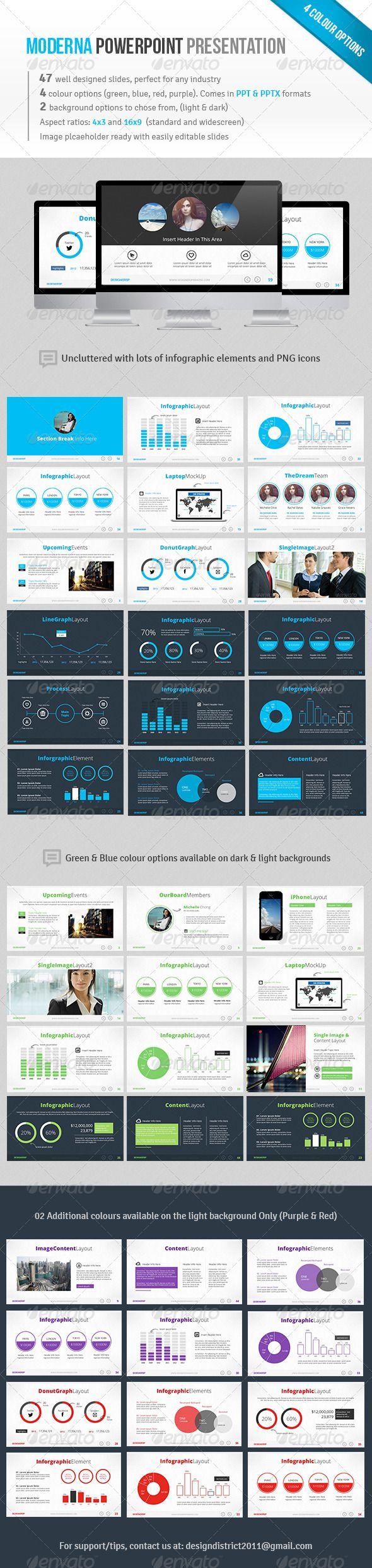 Moderna Powerpoint - Business Powerpoint Templates