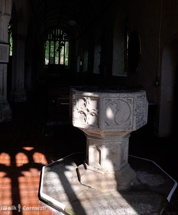 Inside Lanteglos church, Camelford, Cornwall