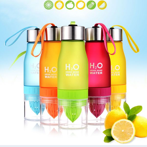 650ml H20 Water Bottle Portable Juice Lemon Fruit Infuser Cup