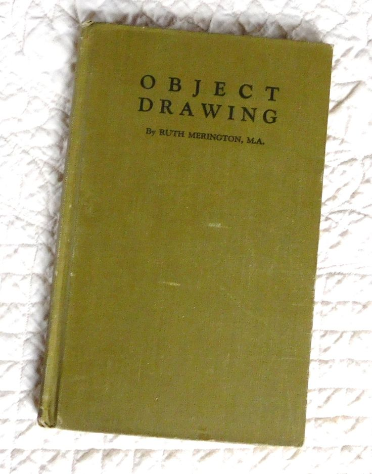 Drawing Book Object Drawing How to Draw Vintage 1929 Ruth Merington Hardcover Art by LandofBridget on Etsy